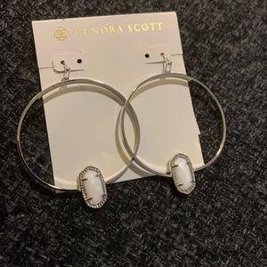 Kendra Scott Elora Silver Earrings White Pearl